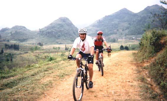Cycling around BacHa with Rocky mountain bike
